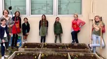 Naples Elementary School Leadership Team Planting