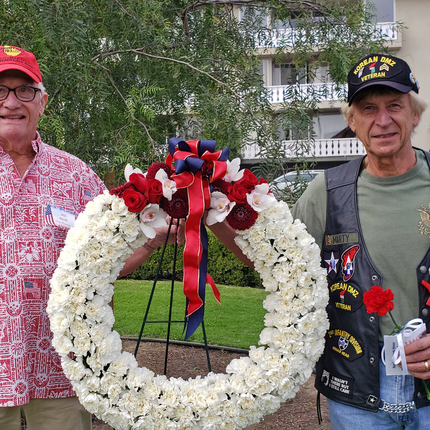 Jerry Marty wreath and vet