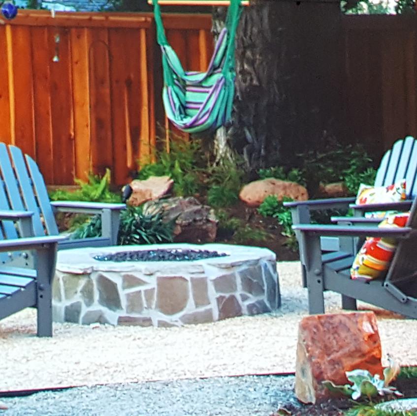 contemporary backyard