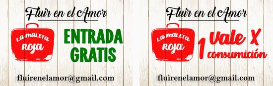 """FLUIR EN EL AMOR - DISSENY TARGETES """"LA MALETA ROJA"""""""