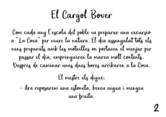 EL CARGOL BOVER - MAQUETACIÓ LLIBRE CONTE