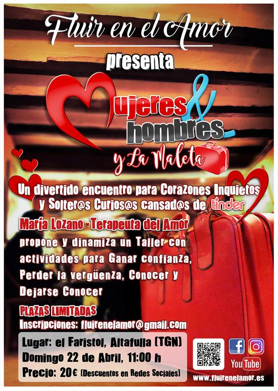 """FLUIR EN EL AMOR - CARTELLERIA """"MUJERES & HOMBRES Y LA MALETA"""""""