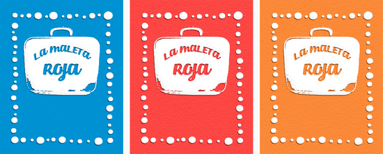 """FLUIR EN EL AMOR - DISSENY TARGETES JOC """"LA MALETA ROJA"""""""