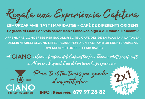 CAFÈ CIANO - DISSENY FLYER PROMO FORMACIÓ