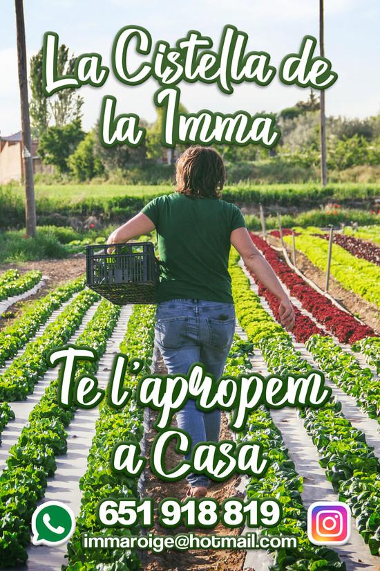 LA CISTELLA DE LA IMMA - DISSENY FLYER PROMOCIONAL