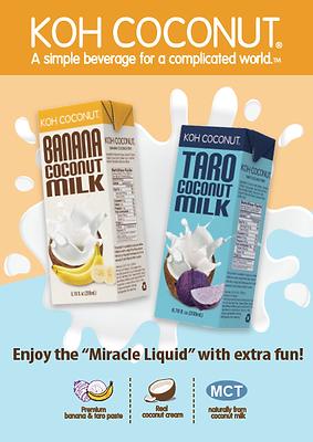 KOH COCONUT_Taro and Banana coconut milk