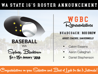 WA State 16's Roster Announced