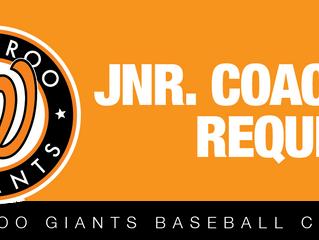 JUNIOR Coaches Required