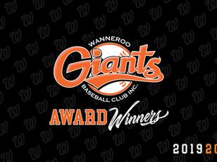 Giants Junior Awards Season 2019-20
