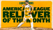 Giants Own Awarded MLB American League 'Reliever of the Month'