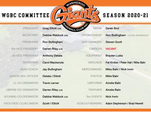 WGBC Committee Members 2020/21