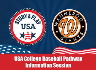 'Study & Play USA' College Pathway Info Night
