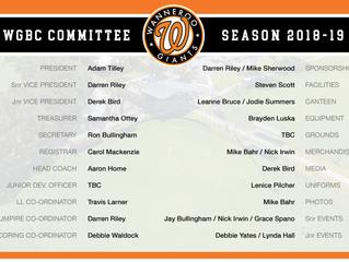 WGBC Committee Season 2018/19