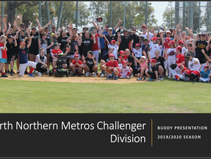 Perth Northern Metros Challenger Division callout for 'Buddies' for Season 2019/20