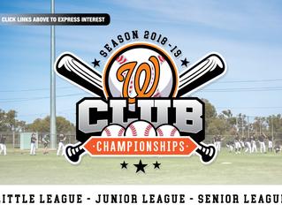 CLUB CHAMPIONSHIPS 2018/19