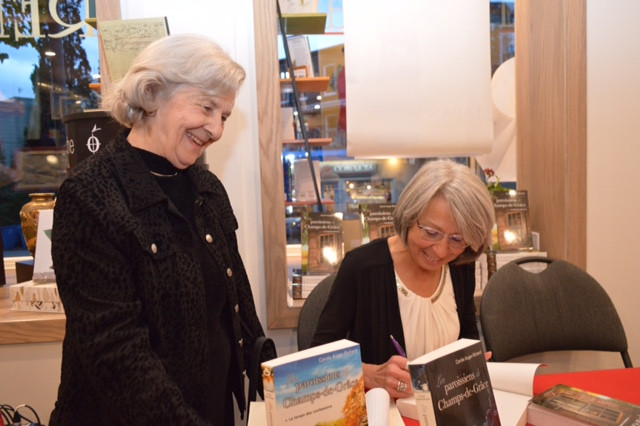 Lancement du tome 3 Les paroissiens de Champs-de-Grâce à la librairie Montrency à Québec - Octobre 2019