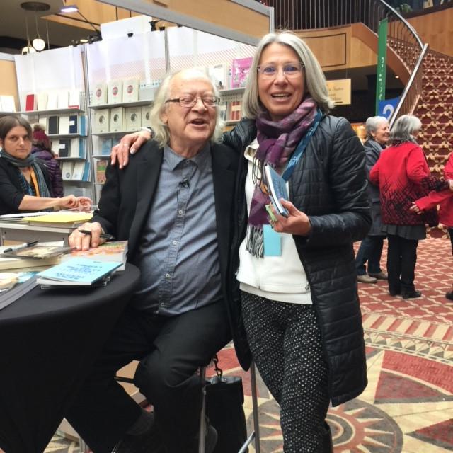 Salon du livre de Rimouski avec le poète et chansonnier, Raôul Duguay Novembre 2017