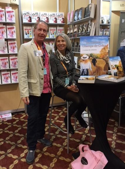 Salon du livre de Rimouski, avec mon ami et auteur Albert Bérubé  Novembre 2017