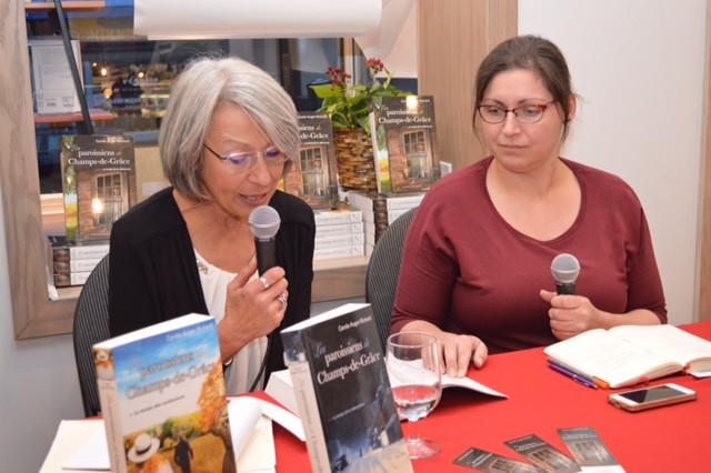Lancement du Tome 3 Les paroissiens de Champs-de -Grâce, le temps de la délivrance présenté avec Julie Collin, Interviewer, blogueuse et libraire. Librairie Montrency à Québec - Octobre 2019