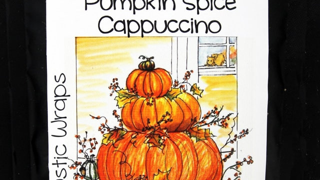 3074 4oz Rustic Wraps Pumpkin Spice Cappuccino