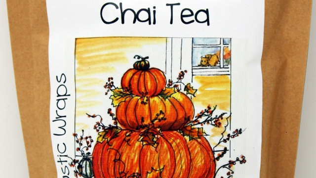 3069 4 oz Rustic Wraps Chai Tea Mix/ Fall Design