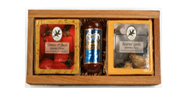 Gift 101 Rustic Cheese and Sausage Tray