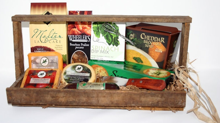 Lathem Wooden Tray Gourmet Food Gift
