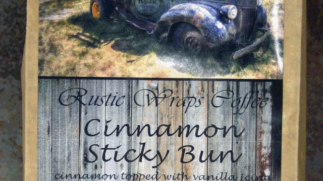 12 oz Cinnamon Sticky Bun Coffee Kraft Wrap
