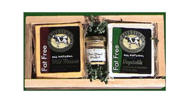 Gift 211 Lifetime Rustic Tray Fat Free Cheese Gift