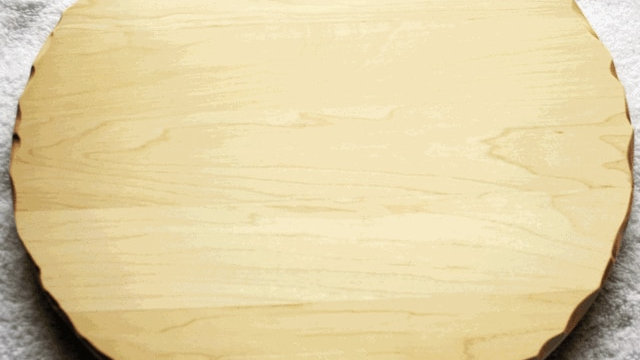 """Round 12"""" Distressed Edge Cutting Board American Hardwood"""