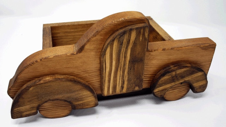Wooden Truck Box Stained