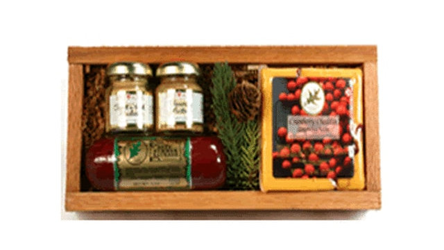 Gift 100 Rustic Cheese, Sausage and Mustard Tray