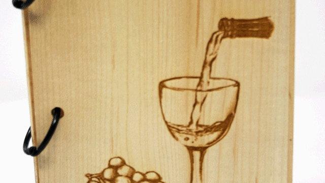 Wooden Wine Journal
