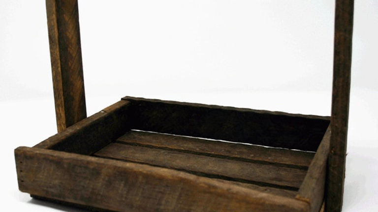 Small Wooden Handle Crate