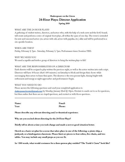 SotG 24-Hour Plays Director Application_
