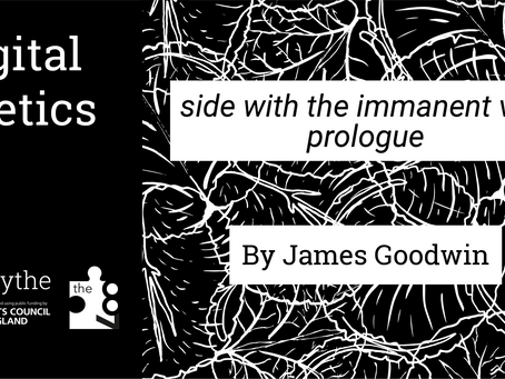 Digital Poetics #24 side with the immanent vex: prologue by James Goodwin
