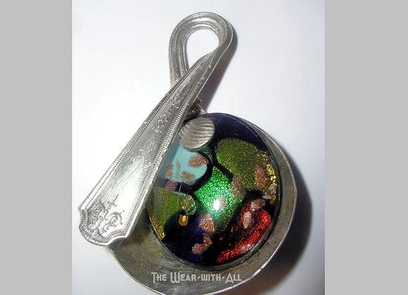 SilverWare-It-All Jeweltone Dichroic Glass Spoon