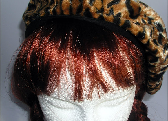Jaguar Reversible Cheetah Beret