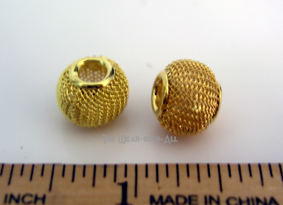 Goldplated Mesh Beads