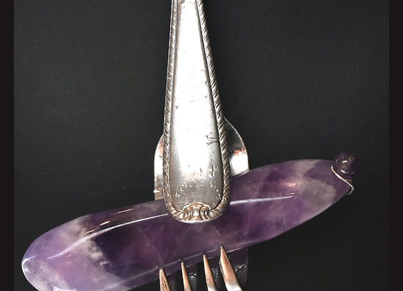 SilverWare-It-All Giant Amethyst Wand in Stainless Spoon