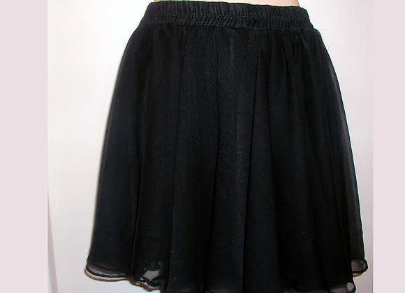 SAM Black Mini Flounce Skirt with Built-in Dance Shorts