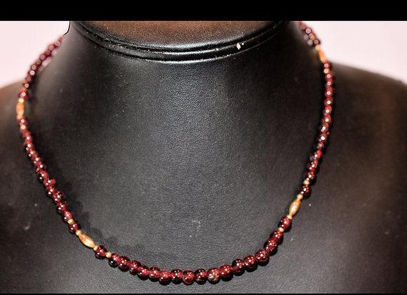 Garnet and Goldfilled Necklace