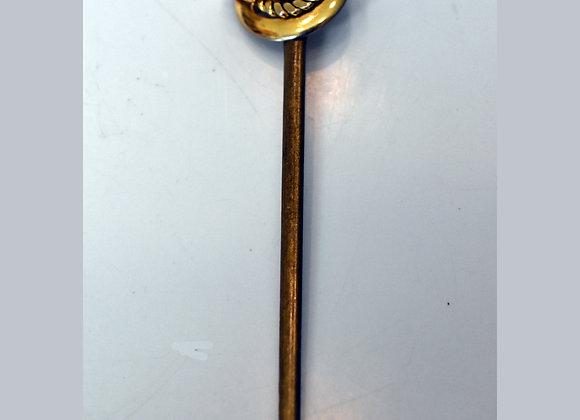Bronze Art Deco-Style Swirl Design Hair Stick