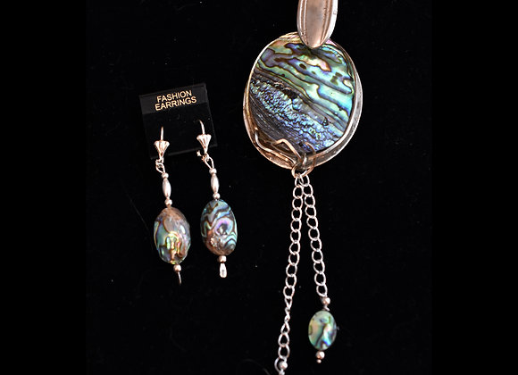 SilverWare-It-Alls Abalone Spoon & Earring Set