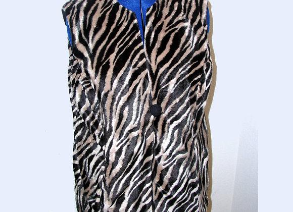 Dark Tiger Print Reversible Vest
