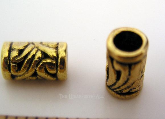 Goldplate Long Swirl Bead