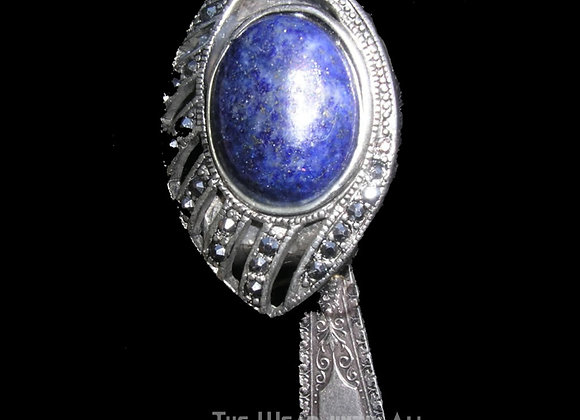 SilverWare-It-All Lapis & Marcasite Knife Pendant