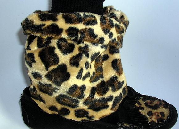 Cheetah Print Foldover Shoe Flirts