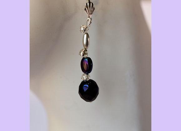 Purple Shine Faceted Bead Earrings