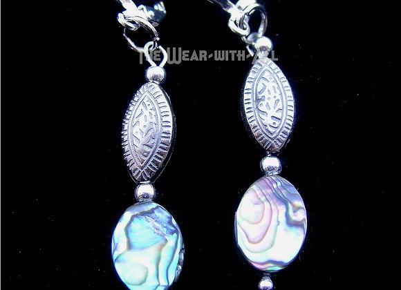 Abalone & Oval Bead Earrings